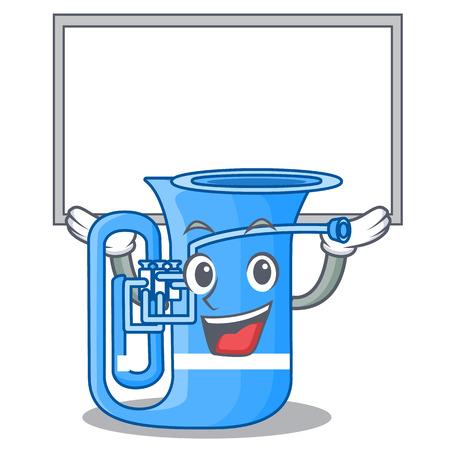 Up board tuba in the mascot music room vector illustration Illustration