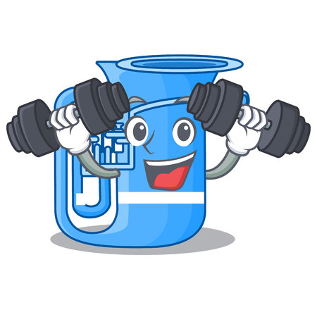 Fitness tuba in the mascot music room vector illustration
