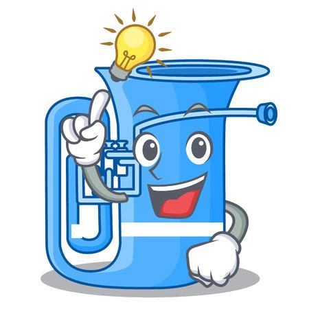 Haben Sie eine Idee Miniatur-Tuba in der Form-Cartoon-Vektor-Illustration Vektorgrafik