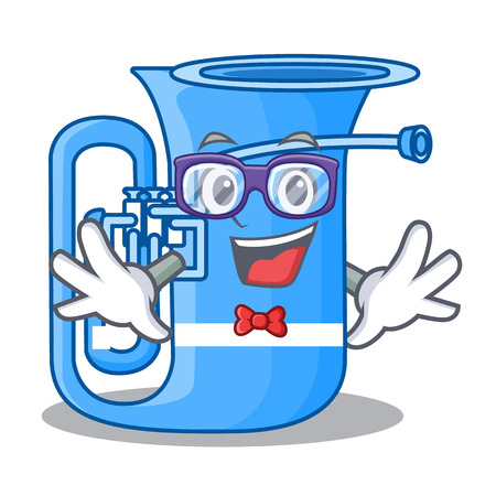 Geek tuba isolated with in the character vector illustrtion