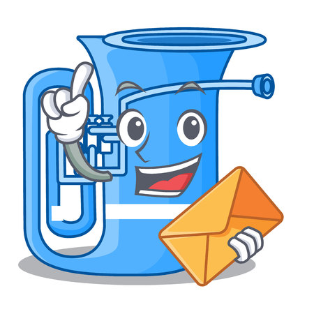 With envelope tuba isolated with in the character vector illustrtion Illustration