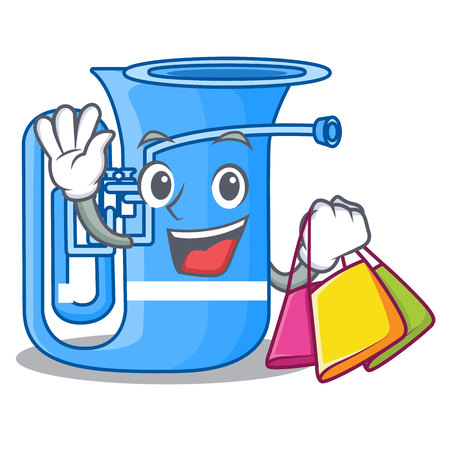 Shopping tuba isolated with in the character vector illustrtion