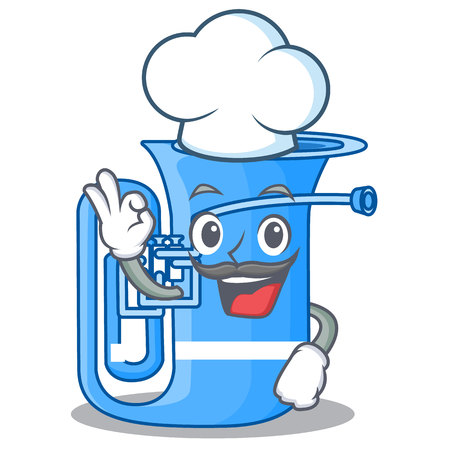 Chef tuba isolated with in the character vector illustrtion Illustration