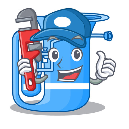 Plumber miniature tuba in the shape cartoon vector illustration 向量圖像