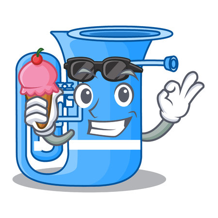 With ice cream tuba isolated with in the character vector illustrtion