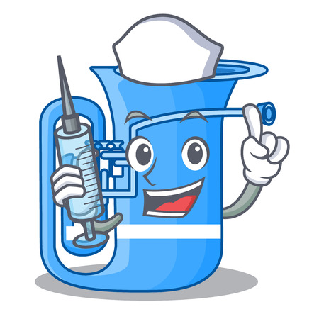 Nurse tuba isolated with in the character vector illustrtion Illustration