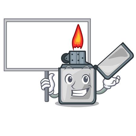 Bring board cigarette lighters in the shape mascot vector illustrtion