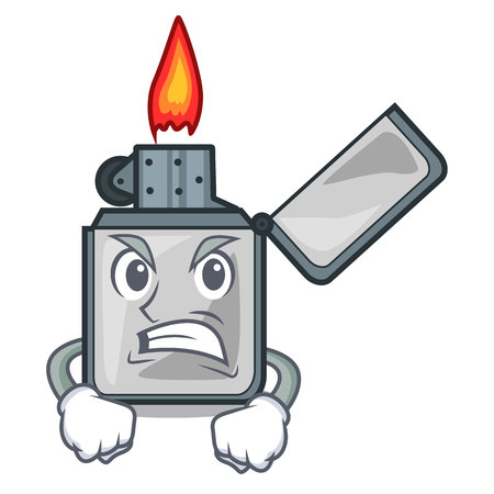 Angry cigarette lighters isolated with the cartoon vector illustrtion