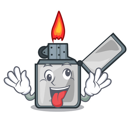 Crazy cigarette lighters are placed cartoon bags vector illustration