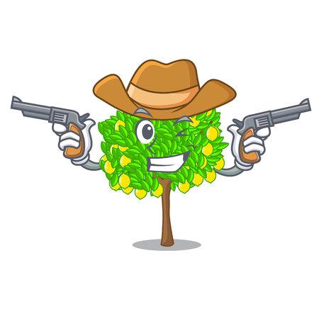 Cowboy lemon tree in the cartoon shape