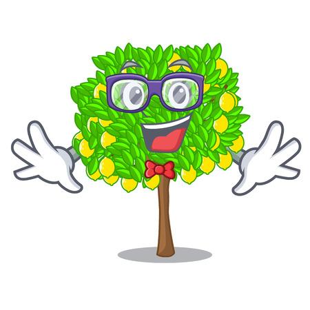 Geek lemon tree isolated with the mascot vector illustration 矢量图像