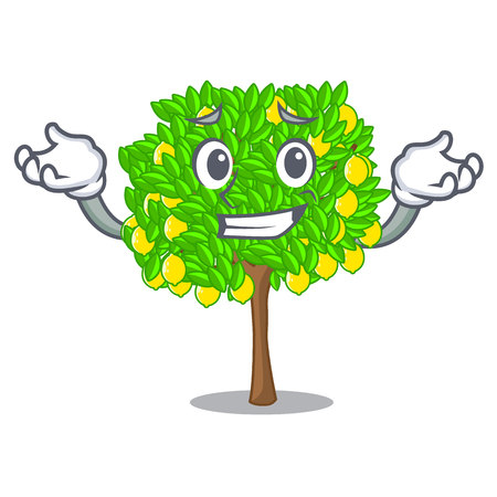 Grinning lemon tree isolated with the mascot vector illustration 矢量图像