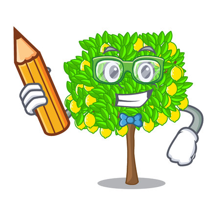 Student lemon tree isolated with the mascot vector illustration 矢量图像