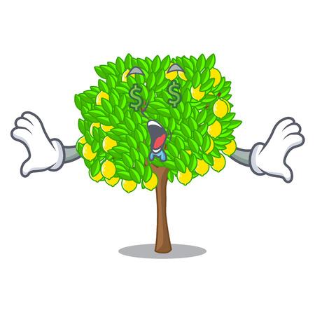 Money eye lemon tree in the pot character