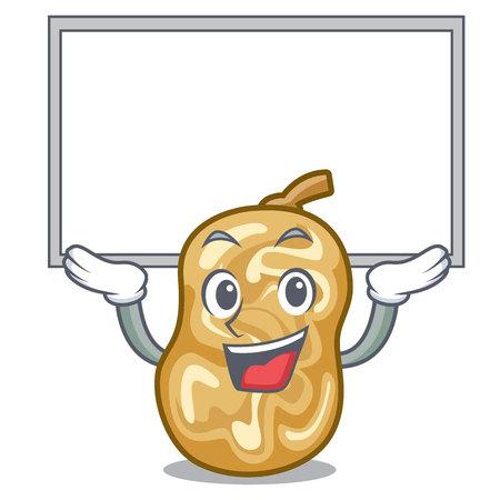 Up board raisins in a the cartoon bowl vector illustration