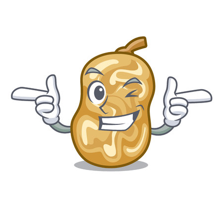 Wink raisins isolated with in the mascot vector illustration
