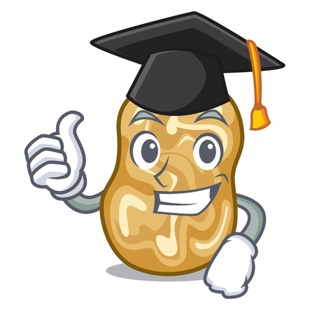 Graduation raisins isolated with in the mascot vector illustration