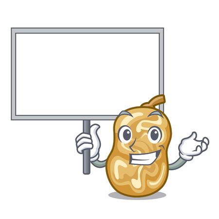 Bring board raisins in a the cartoon bowl vector illustration Ilustração