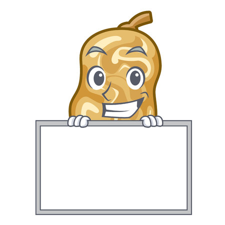 Grinning with board raisins in a the cartoon bowl vector illustration