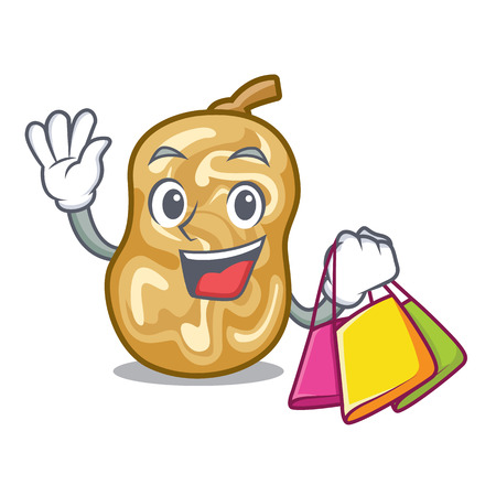 Shopping raisins isolated with in the mascot vector illustration