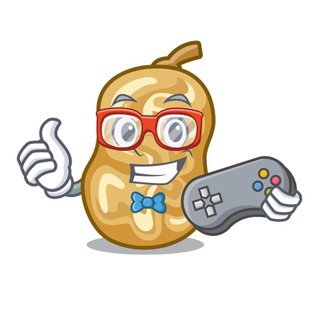 Gamer raisins in the a character box vector illustration