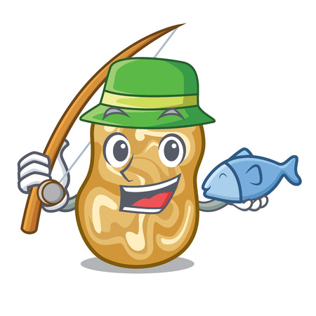 Fishing raisins in the a character box  イラスト・ベクター素材