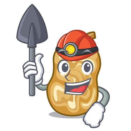 Miner raisins in the a character box vector illustration Stock Illustratie
