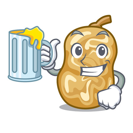 With juice raisins in the a character box vector illustration
