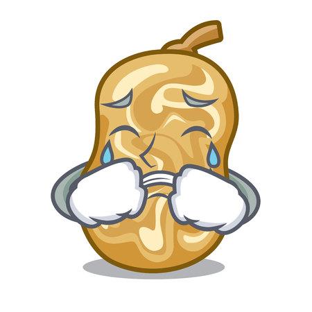 Pleurer des raisins secs dans une illustration vectorielle de caractère