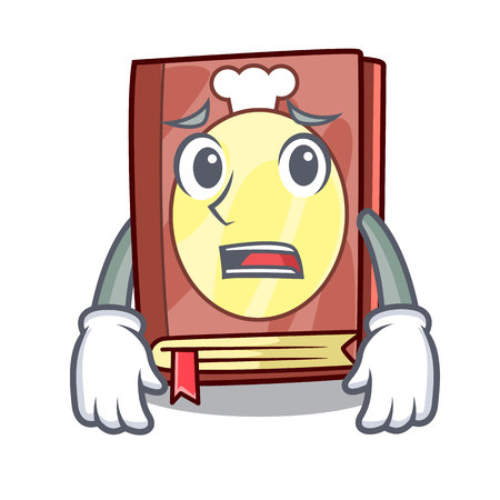 Afraid recipe book in the cartoon shape vector illustration Ilustração