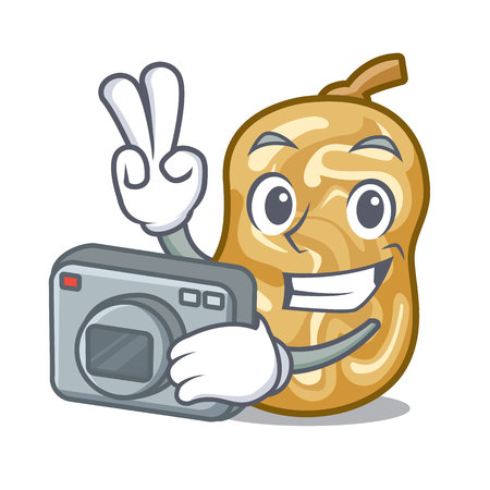 Photographer raisins in the a character box vector illustration