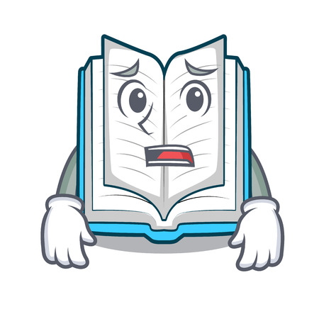 Afraid opened book in the shape mascot vector illustrtion Ilustração