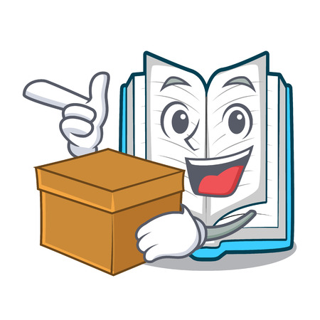 With box opened book isolated in the character vector illustration Vector Illustration