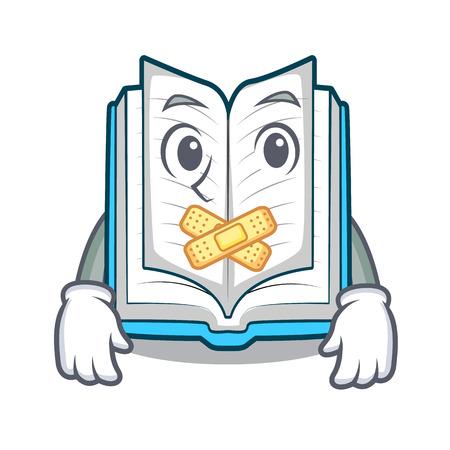 Stilles aufgeschlagenes Buch in der Cartoon-Box Vektorgrafik