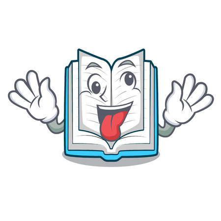 Verrücktes aufgeschlagenes Buch in der Cartoon-Box-Vetor-Illustration Vektorgrafik