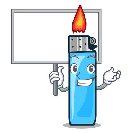 Bring board plastic lighters in the character shape vector illustration Ilustração