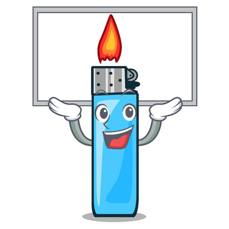 Up board plastic lighters in the character shape vector illustration
