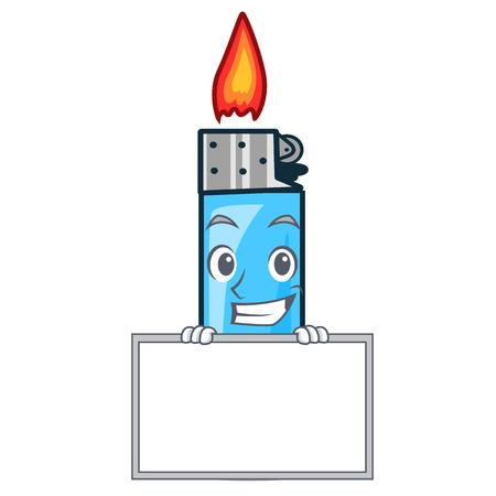 Grinning with board plastic lighters in the character shape vector illustration Ilustração