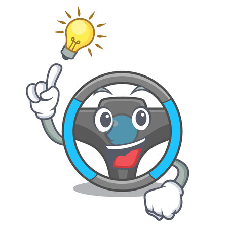 Have an idea miniature steering wheel in cartoon shape vector illustrtion