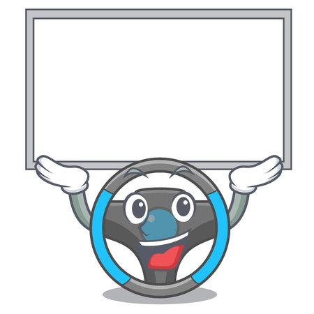Up board steering wheel isolated in the cartoon vector illustration