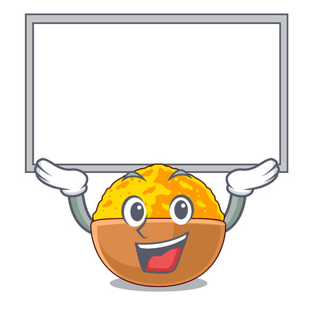 Up board turmeric powder isolated with the mascot vector illustration
