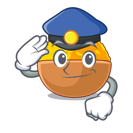 Police turmeric powder isolated with the mascot