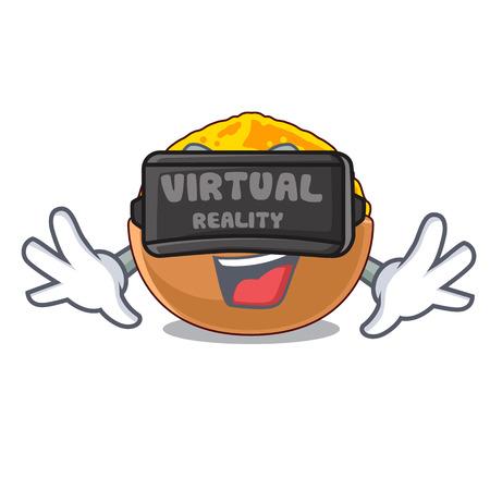 Virtual reality turmeric powder in the character shape Illusztráció