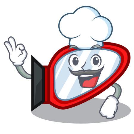 Chef side mirror in the cartoon shape Standard-Bild - 118829402