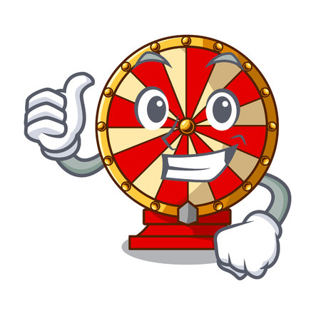 Thumbs up spinning wheel toy isolated the character vector illustration Illustration