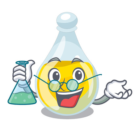 Professor sesame oil isolated with the cartoon vector illustration