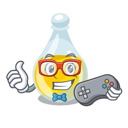 Gamer sesame oil in a mascot bowl vector illustration Ilustración de vector