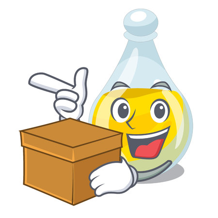 With box sesame oil isolated with the cartoon vector illustration