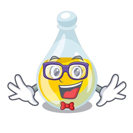 Geek sesame oil isolated with the cartoon vector illustration Illustration