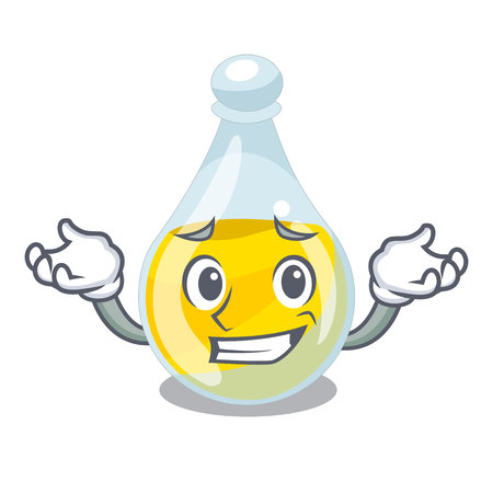 Grinning sesame oil isolated with the cartoon